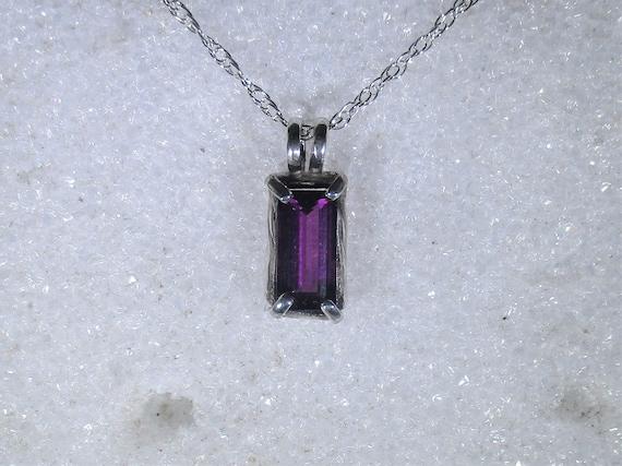 Very rare Grape Garnet gemstone handmade sterling silver pendant necklace