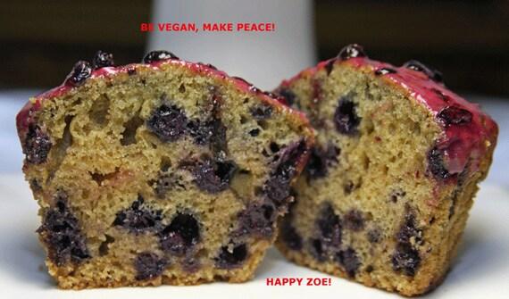 Vegan Wild Blueberries muffins 6 pcs plant based, birthday, lunch