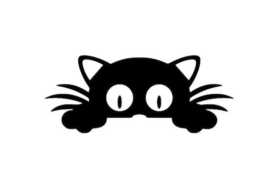 Items Similar To Curious Cat Decal