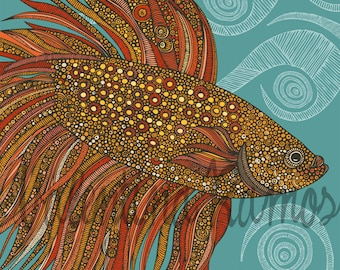 Beta Fish print