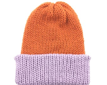 Knitted Reversible Hats / Beanie Reversible Hats / Reversible Hats / Custom Made Reversible Hats / Slouchy Hats