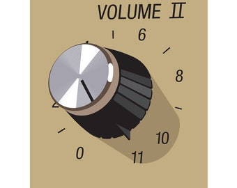 These go up to 11 from Spinal Tap 40 x 50cm giclee print