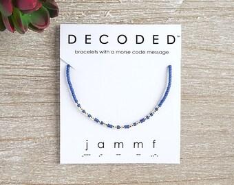 JAMMF - Outlander Fan - Morse Code Bracelet - Outlander Bracelet - Morse Code Jewelry