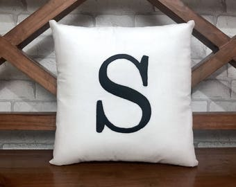 30% SALE Initial Letter Monogram Pillow Decorative Personalized Name  Kids Dorm Decor Baby Birthday Gift All sizes Available