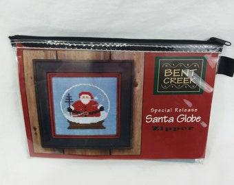 2003 Bent Creek Santa Globe Cross Stitch Zipper Kit NEW 5th Series Needlepoint