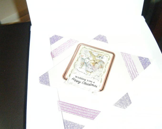 Handmade Decoupage Star Card