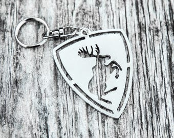 Volvo moose keychain stainless steel keyring for car S60 S80 V70 V80 parts accessory Gift Present for Him