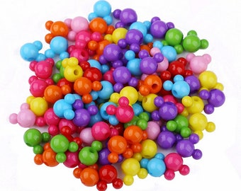 100pcs Multi color Mouse Head Acrylic  Beads