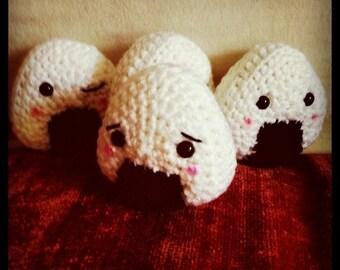 Crocheted Onigiri Friends