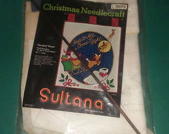 Sultana Christmas Needlecraft Jeweled Panel To All A Good Night New #32092