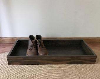 Boot Tray - Wood Shoe Tray - Wood Boot Tray - Shoe Storage - Shoe Organization