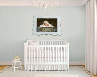 20x20 Picture Frame, Custom Picture frame ,Wooden Picture Frame, Nursery wall art, baby girl nursery, baby boy nursery, nursery decor