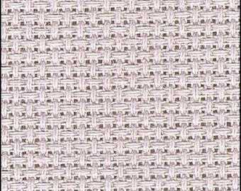 "Aida, Charles Craft Gold Standard  14 count Aida, PLATINUM ,  15""x18""  for cross stitch, aida for cross stitch, Fabric"
