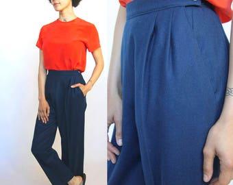 pendleton petite -- vintage 80s pendleton virgin wool high waisted pants Size 8 petite / modern Small