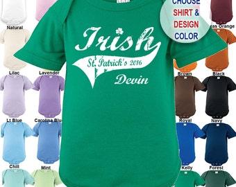 Irish - St. Patrick's Day - Bodysuit - Personalized with Name & Year - Boys / Girls / Irish / St. Patty's Day
