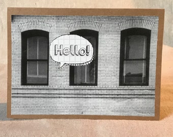 Hello (Blank) Greeting Card - Special Occasion, Just Because, Keep in Touch, Housewarming, Moving