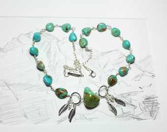 Campo Frio Turquoise Necklace hand wired