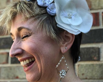 Bridal Bobbi Pins, Flower Hair Accessory, Bobbi Pins,Wedding Hair Clip, Vintage Bride, Flower Fascinator, Southern Bride, Something Old