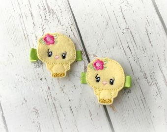Bird hair clip Spring Hair Clip Sweet Bird Hair clippie cutie  Pick one or two. Pick Left side or Right.