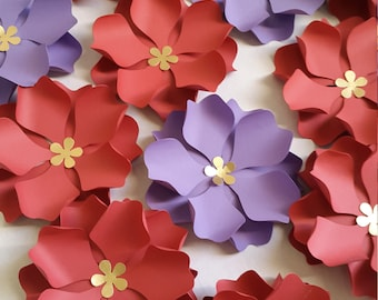 Paper Flower Template/Pattern, DIY Paper Flower - SVG Cut File and PDF
