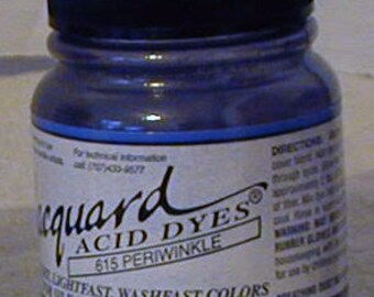 Periwinkle 615 Jacquard Acid Dye for Wool, Silk, Feathers, Nylon, any protein (animal) fiber. Add vinega and, heat to powder.