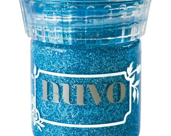 Nuvo Sapphire Blue Glimmer Paste, NGP 957, Tonic Studios, Stencil, Mixed Media, Scrapbook, Card making