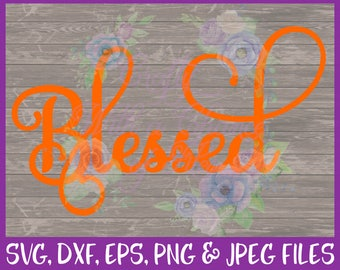 Blessed SVG, Thanksgiving SVG, Faith SVG, Religious Svg, Fall Svg, Autumn Svg, Jesus Svg, Christian Svg, Dxf Eps Png Jpg Digital Download
