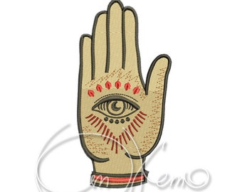 MACHINE EMBROIDERY DESIGN - Mexican Hand
