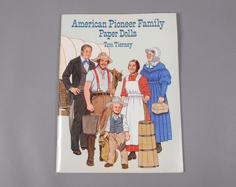 Tom Tierney American Pioneer Family Paper Dolls Book New and Uncut