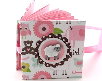 Baa Baa Sweet Sheep Mini Photo Book, 2x3 wallets - pink, brown, white