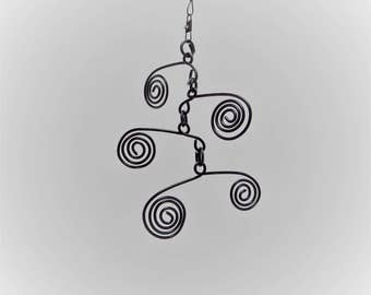 Mini Spiral Mobile Kinetic Sculpture