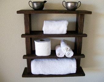 Wooden Bathroom Towel Holder. Rustic Bathroom Shelves Towel Rack Wood Shelf Bathroom Shelf Rustic Wall Shelf Storage Organization Toilet Paper Holder Bathroom Storage
