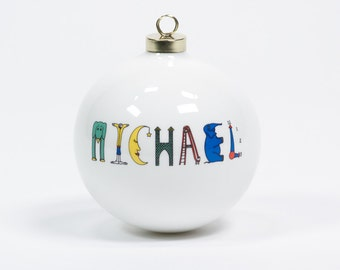 Large Personalized Ornament