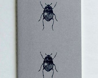 Beetle notebook   sketchbook   journal