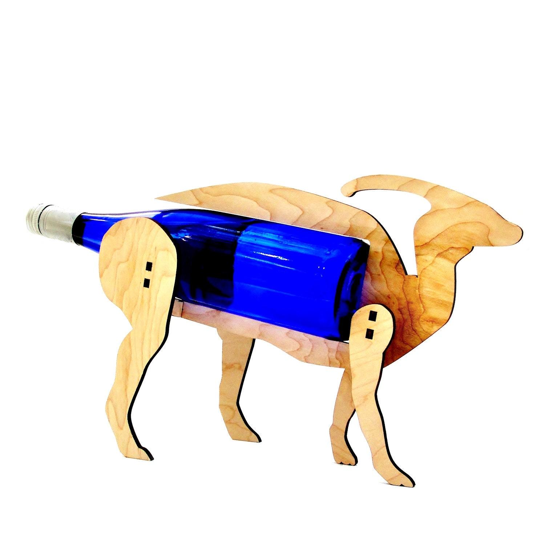 Parasaur Portabotellas De Vino O Saur Dinosaurio Madera # Muebles Suizos Cerons