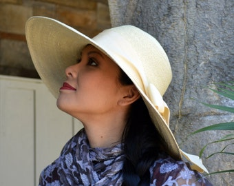 Larged Brimmed Summer Hat in Milan Straw