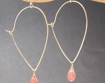 Drop Hoops with interchangeable gemstones Carnivale 42