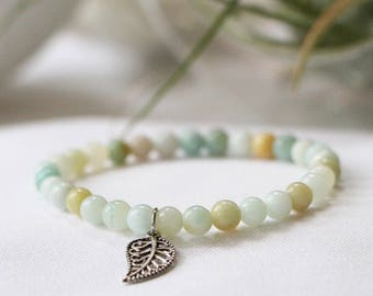 Matte Flower Amazonite Mini Stacker Bracelet