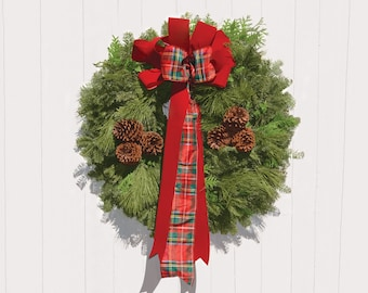 Mixed Greens Balsam Wreath
