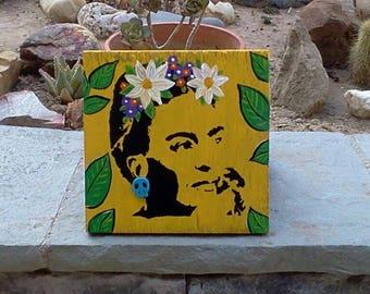 Small Frida Kahlo Painting on wood