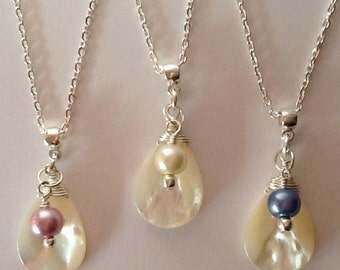 Ivory Mother Of Pearl Necklace