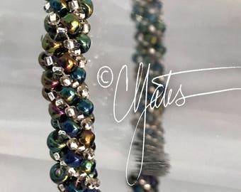 Multicolor spiral bangle