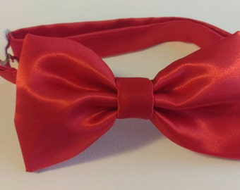 Bowtie - Custom Made Adjustable Satin Baby, Toddler, and Little Boy Bowties