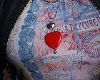 Large Heart Stone Pendant