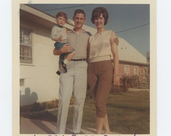 "Vintage Snapshot Photo: ""Larry, Barb & Susan"" c1960s (73557)"