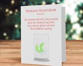 Christmas gin card, Festi...