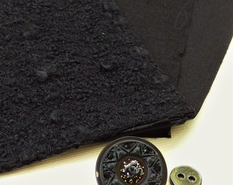Chanel Black Fabric, CC Button Swatch 09A 2009