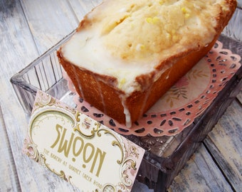 Lavender Lemon Pound Cake ~ 2 Mini Pound Cakes ~ Lavender Pound Cake ~ Lemon Pound Cake ~ Poundcake