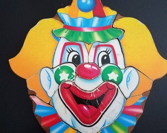 Vintage Wood Clown Face Puzzles