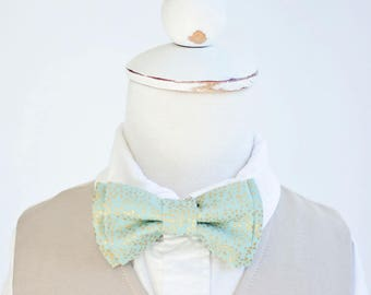 Bow Tie, Bow Ties, Boys Bow Ties, Baby Bow Ties, Bowtie, Bowties, Ring Bearer, Wedding Bow Ties, Rifle Paper Co - Champagne Mint